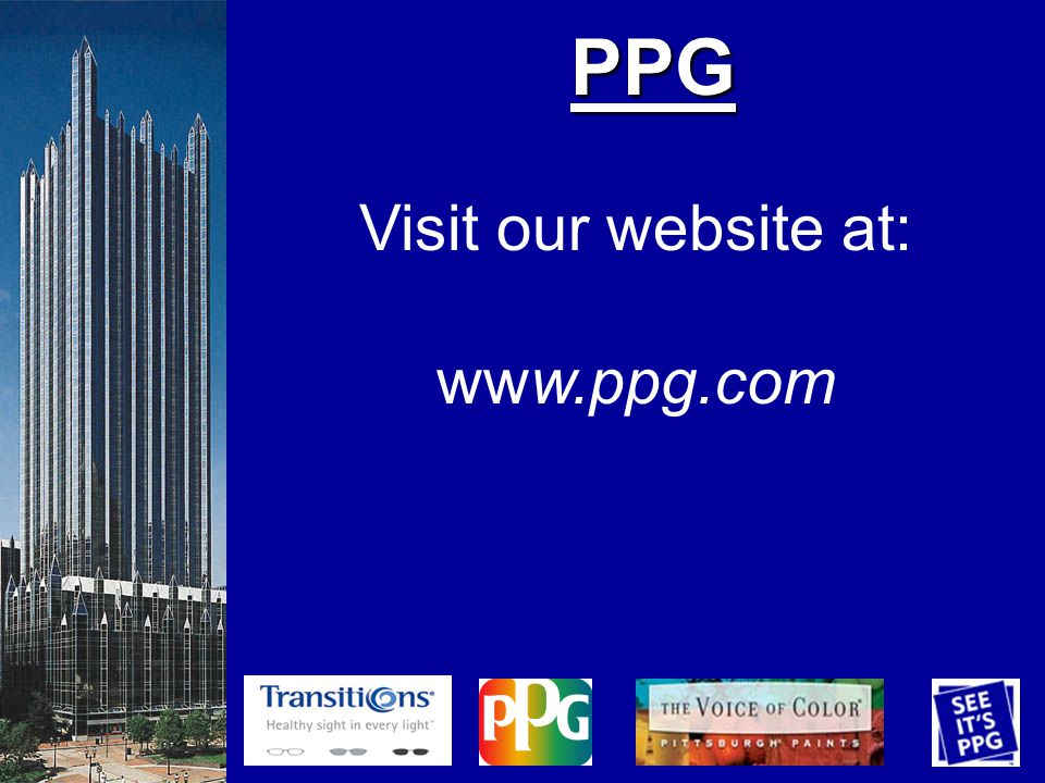 PPG Visit our website at: www.ppg.com