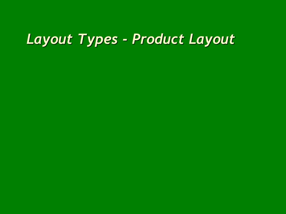 Layout Types - Product Layout