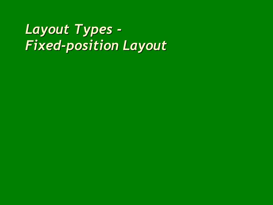 Layout Types - Fixed-position Layout