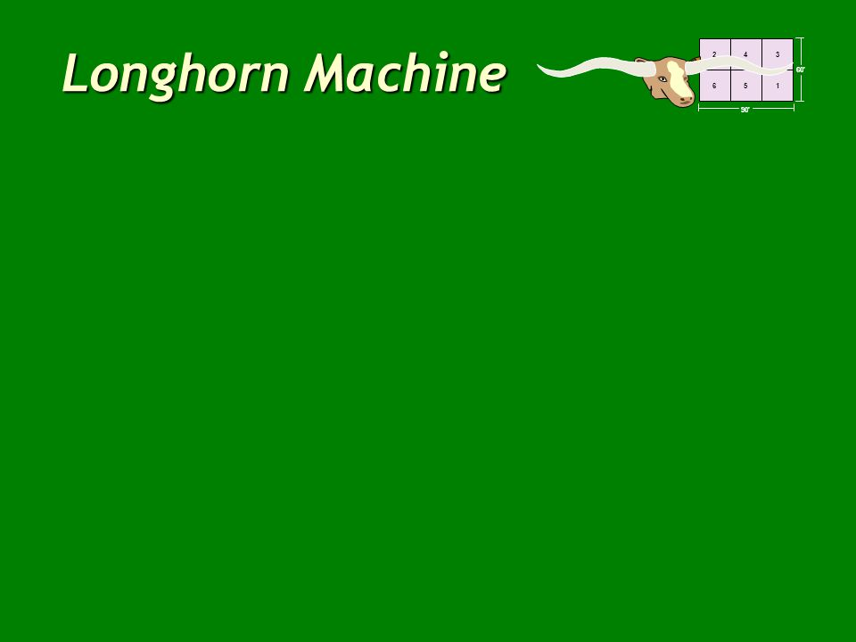 60' 90' 243 651 Longhorn Machine