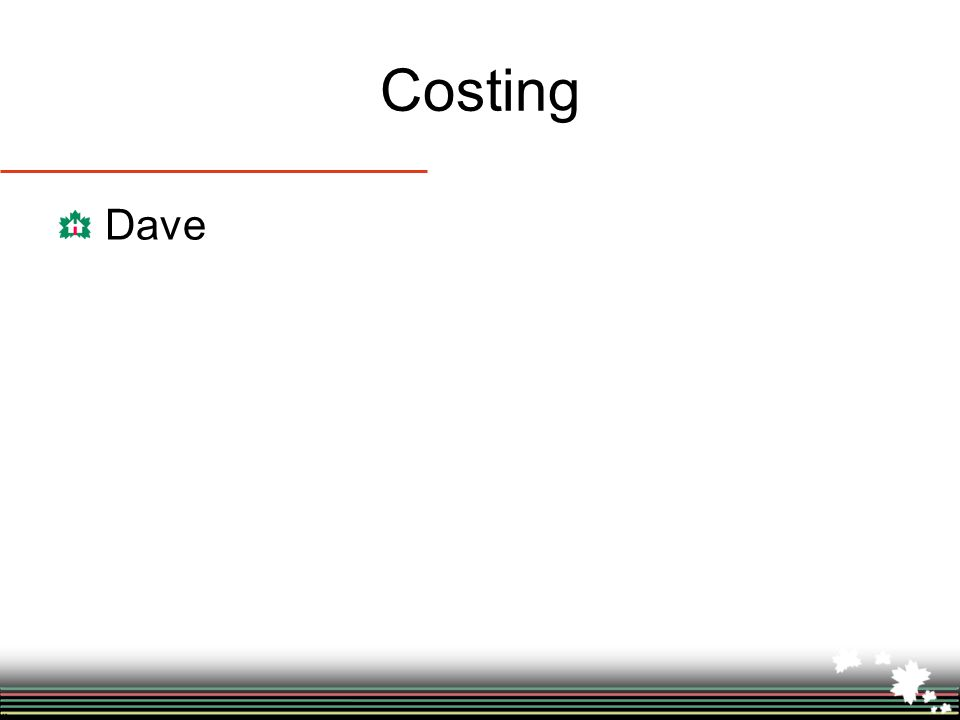 Costing Dave