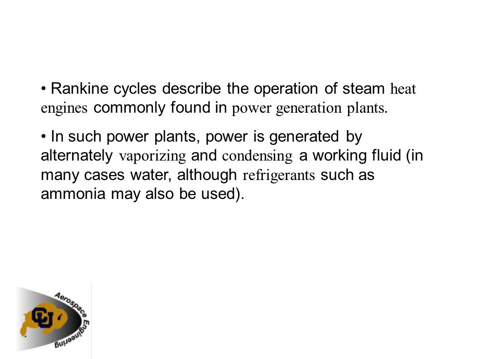 Rankine Steam Plant Cycle