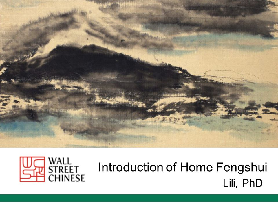 Introduction of Home Fengshui Lili, PhD