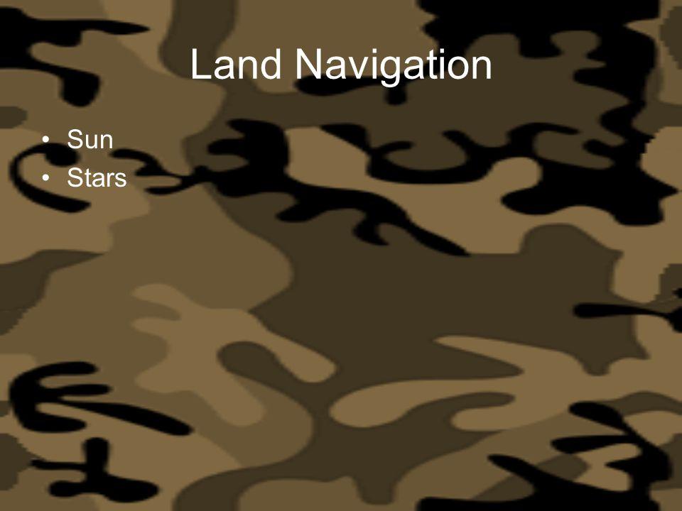 Land Navigation Sun Stars