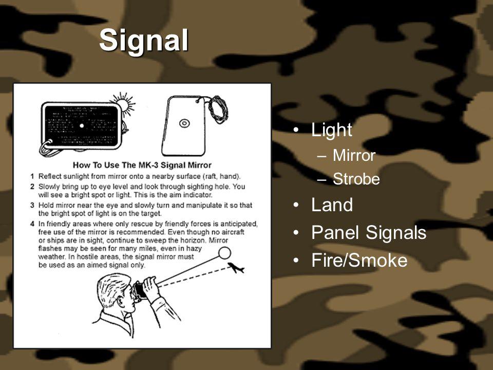Signal Light –Mirror –Strobe Land Panel Signals Fire/Smoke