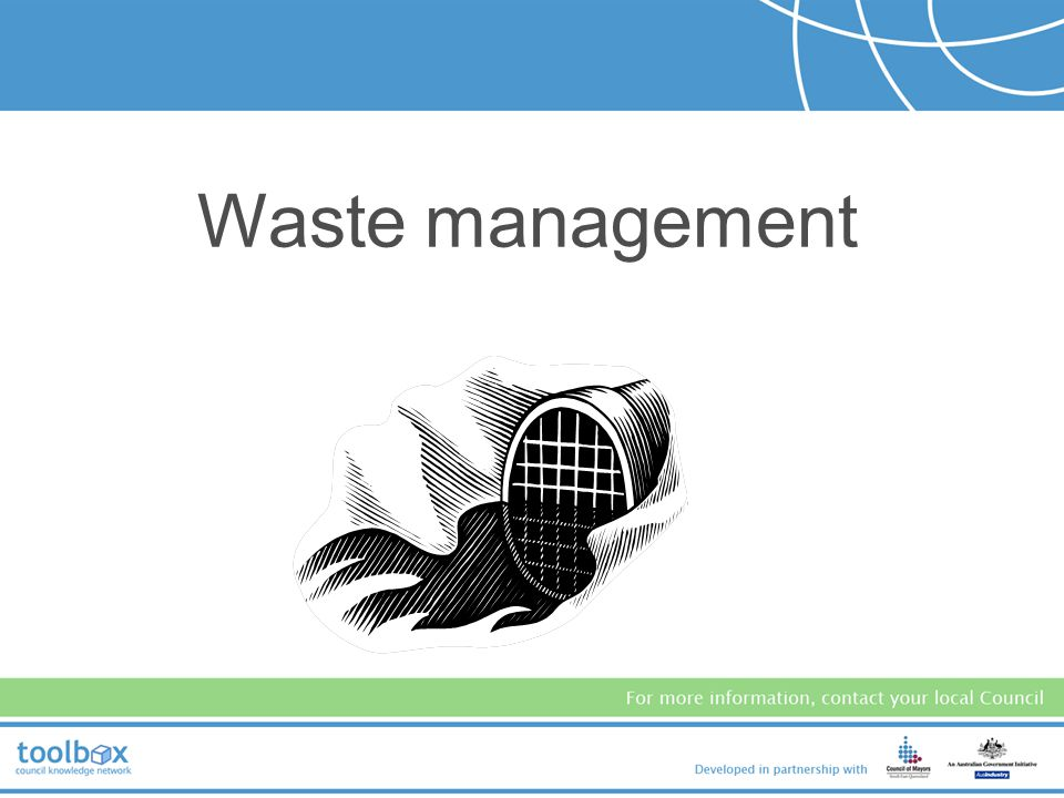 The following slides... Provide an overview of the general requirements pertaining to motor vehicle workshops: –waste management –car detailing –airco