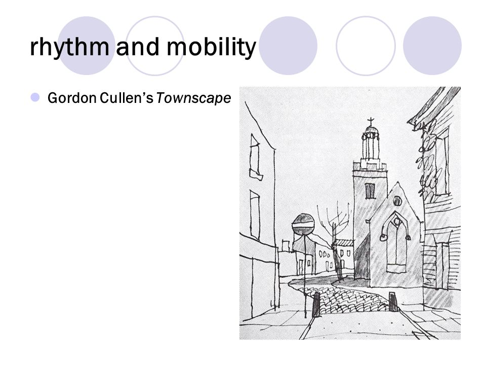 rhythm and mobility Gordon Cullens Townscape