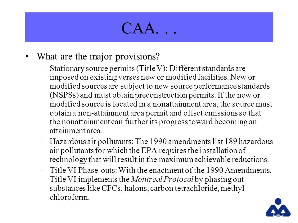 CAA... What are the major provisions.