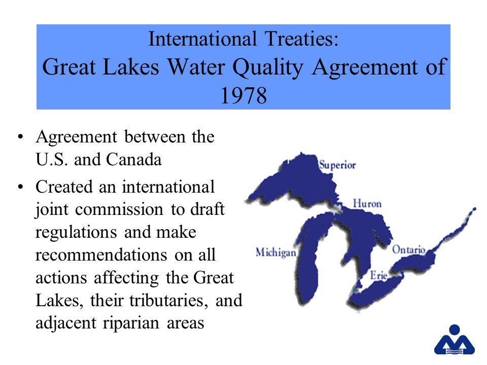 International Treaties: Great Lakes Water Quality Agreement of 1978 Agreement between the U.S.