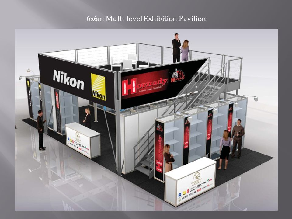 6x6m Multi-level Exhibition Pavilion