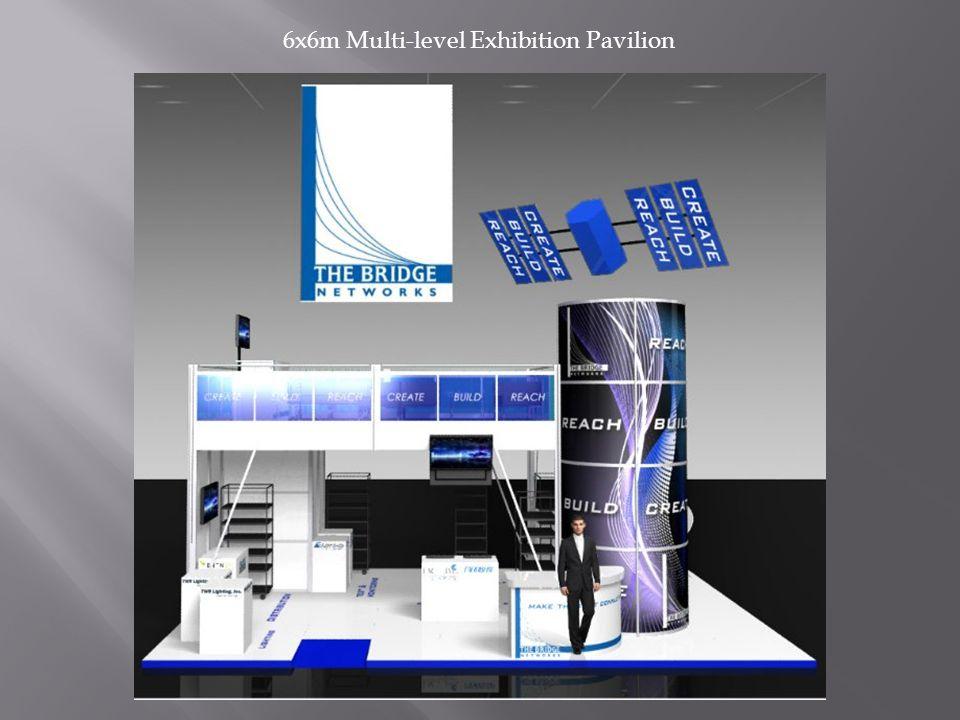 6x6m Multi-level Exhibition Pavilion