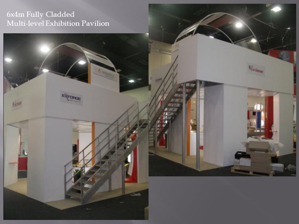 6x4m Fully Cladded Multi-level Exhibition Pavilion