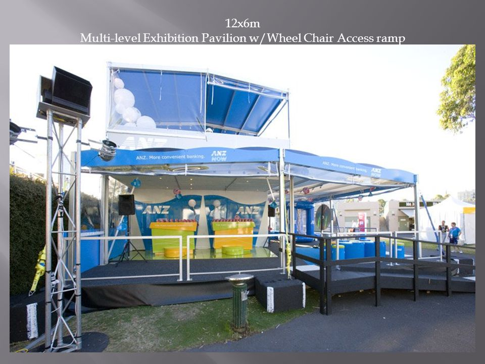 12x6m Multi-level Exhibition Pavilion w/Wheel Chair Access ramp