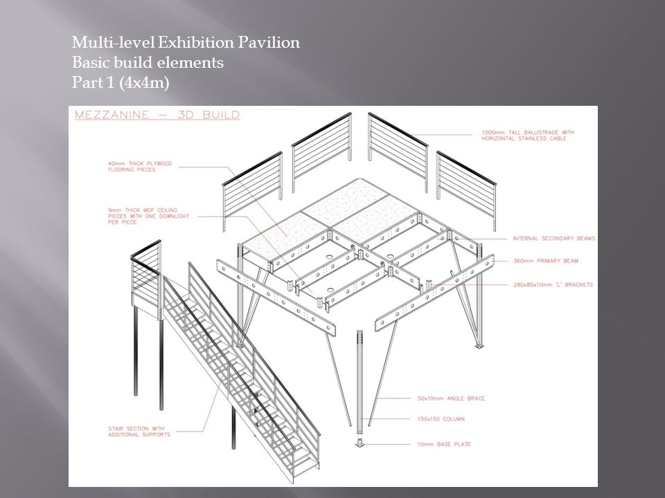 Multi-level Exhibition Pavilion Basic build elements Part 1 (4x4m)