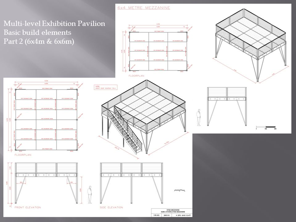 Multi-level Exhibition Pavilion Basic build elements Part 2 (6x4m & 6x6m)