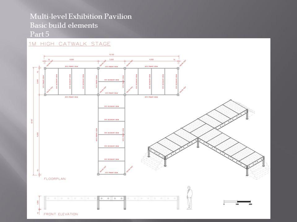 Multi-level Exhibition Pavilion Basic build elements Part 5