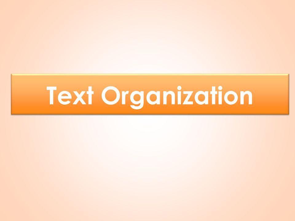 Text Organization