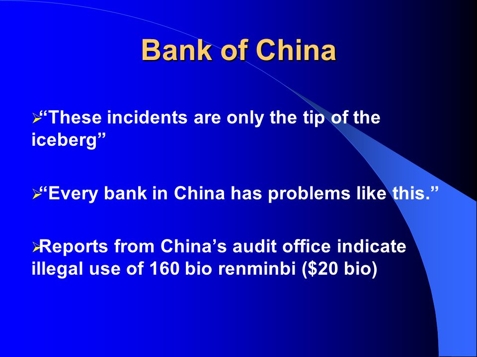 Bank of China Lax banking practices in Canada: RCMP investigating money illegally taken from Bank of China ended up in Canada