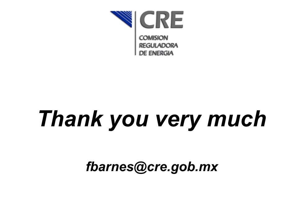 Thank you very much fbarnes@cre.gob.mx