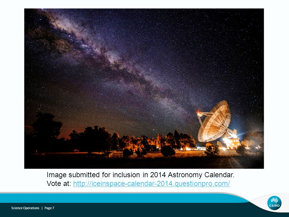 Science Operations | Page 7 Image submitted for inclusion in 2014 Astronomy Calendar.