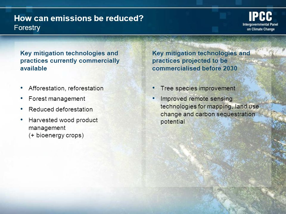 How can emissions be reduced.
