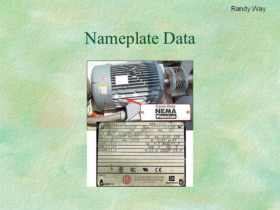 Nameplate Data