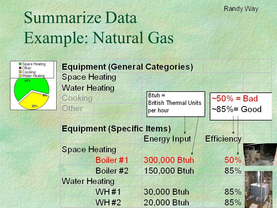 Summarize Data Example: Natural Gas