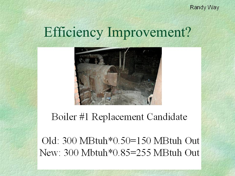 Efficiency Improvement