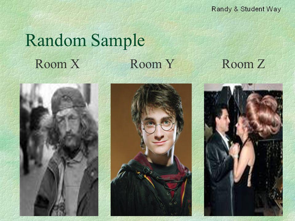Random Sample Room X Room Y Room Z
