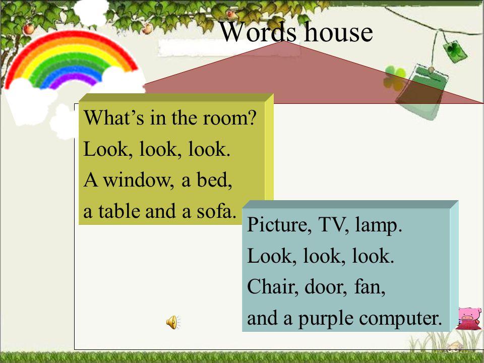Words house purple bedtable window TV sofa chair phone lamp … picture door fancomputer