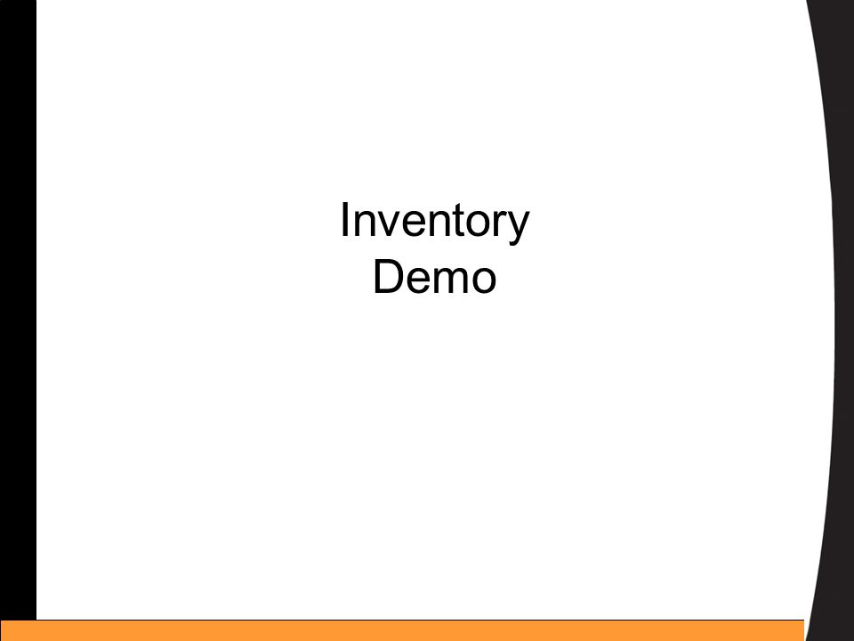 Inventory Demo