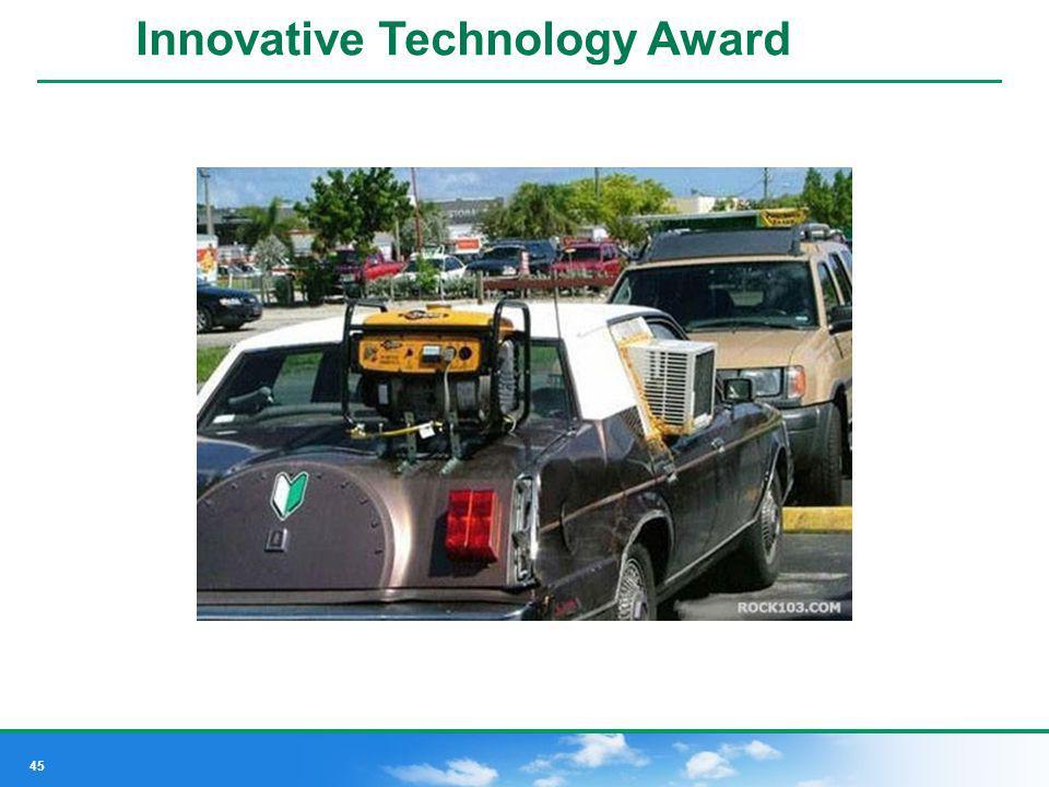 45 Innovative Design Award Innovative Technology Award