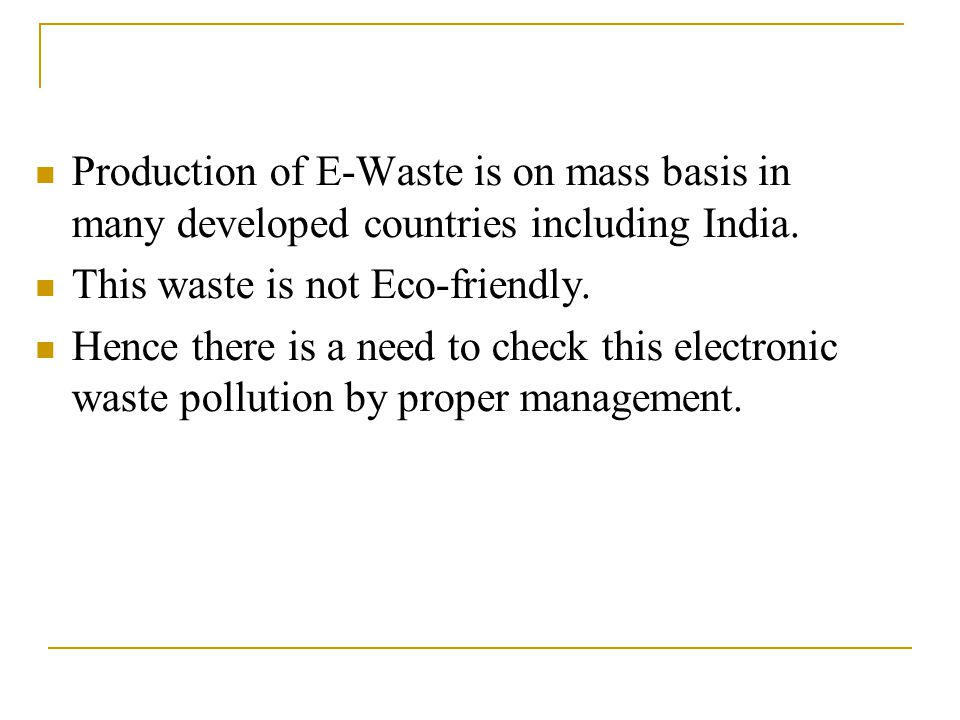Sources of E-Waste