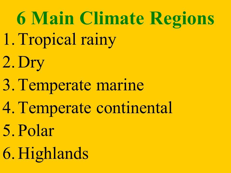 CLASSIFICATION Climates are classified according to: 1. Temperature 2. Precipitation