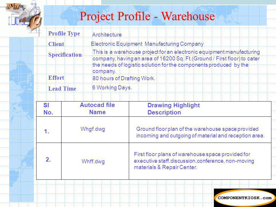 Project Profile - Warehouse Sl No.