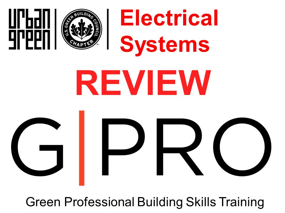 REVIEW Green Professional Building Skills Training Electrical Systems