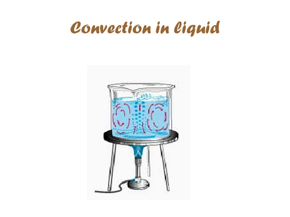 Convection in liquid