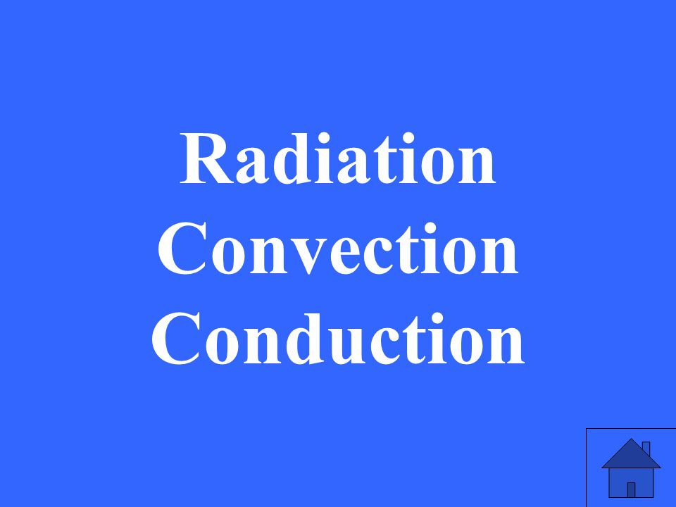 Radiation Convection Conduction