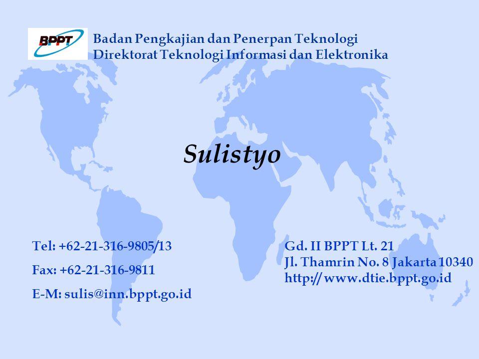 Gd. II BPPT Lt. 21 Jl. Thamrin No.