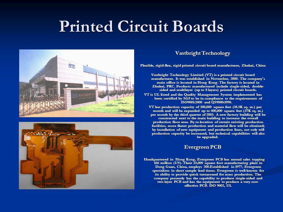 Printed Circuit Boards Vastbright Technology Flexible, rigid-flex, rigid printed circuit board manufacturer, Zhuhai, China Vastbright Technology Limit