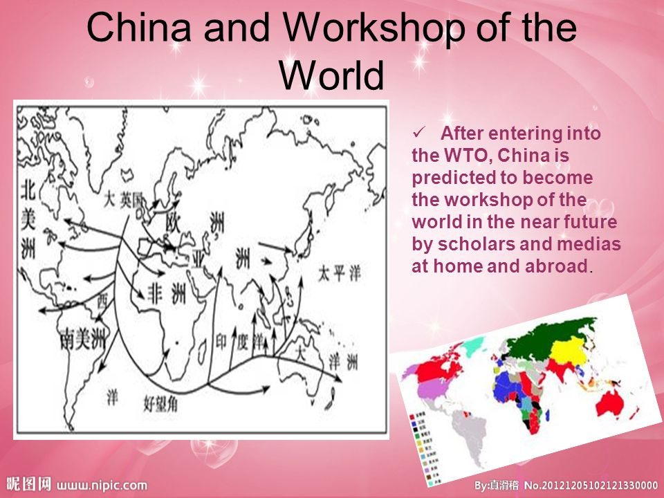 To become the workshop of China, what other musts China shall have.