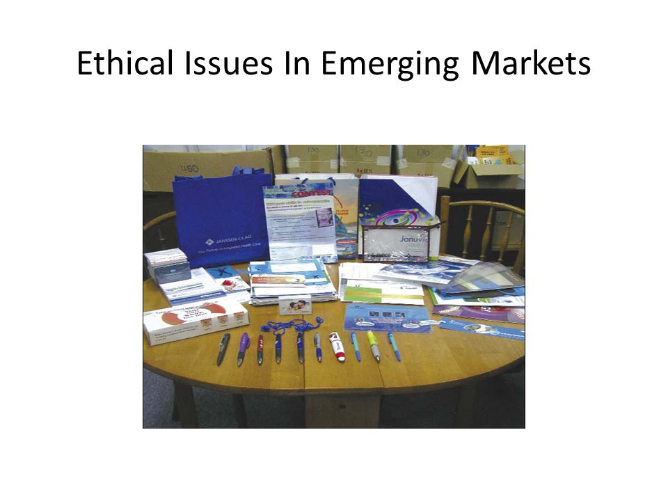 Ethical Issues In Emerging Markets