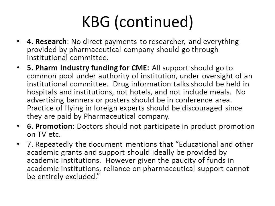 KBG (continued) 4.