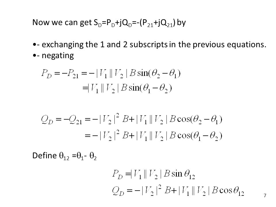 8 Define: is the power factor angle of the load, i.e., Then we can also express S D as: Define β=tan.
