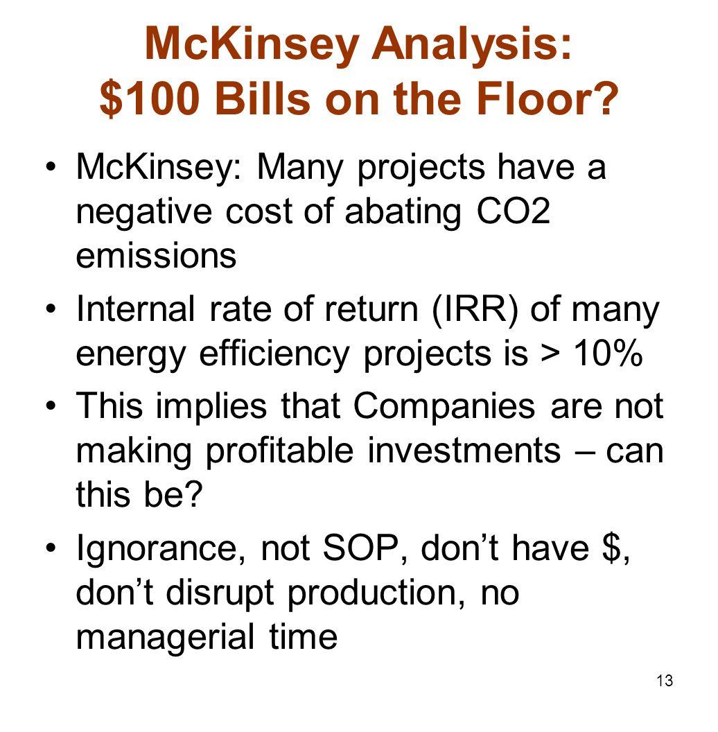 13 McKinsey Analysis: $100 Bills on the Floor.