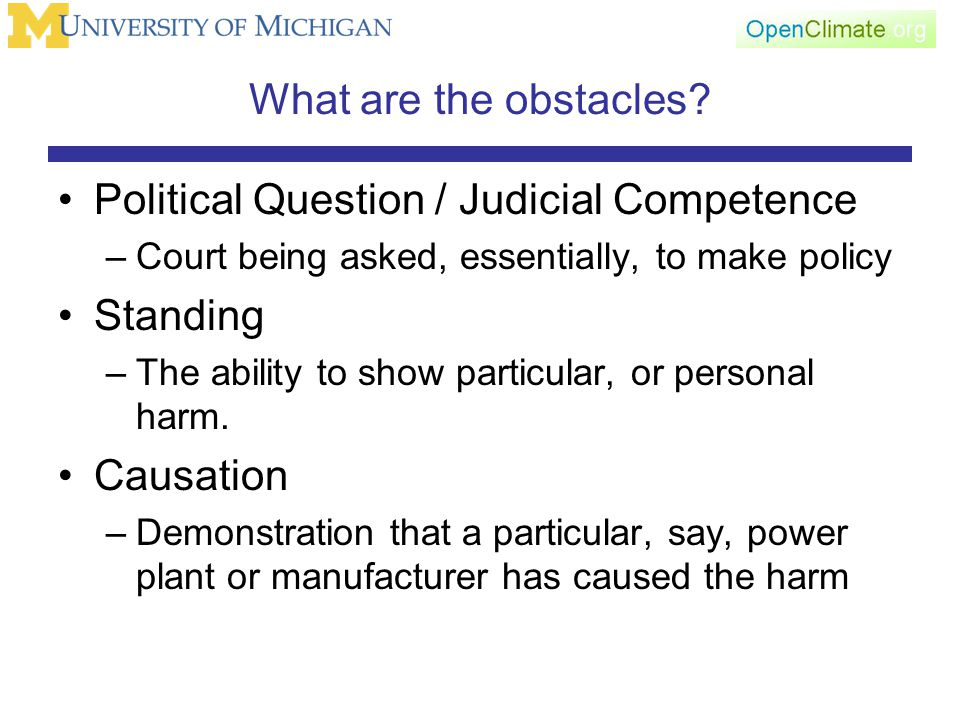 What are the obstacles.
