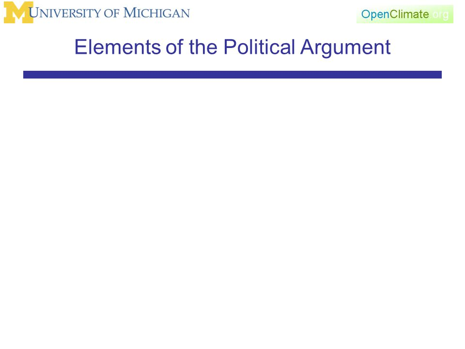 Elements of the Political Argument