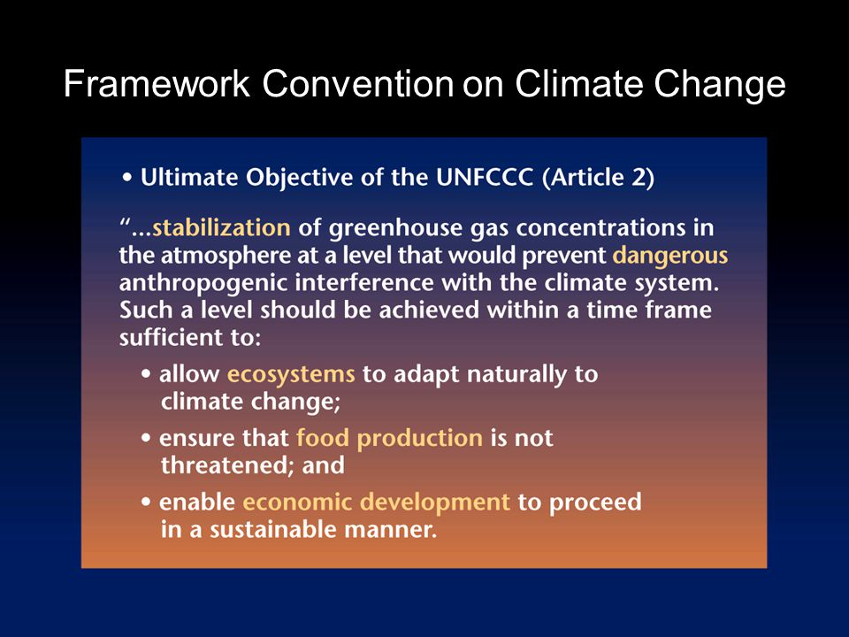 Framework Convention on Climate Change