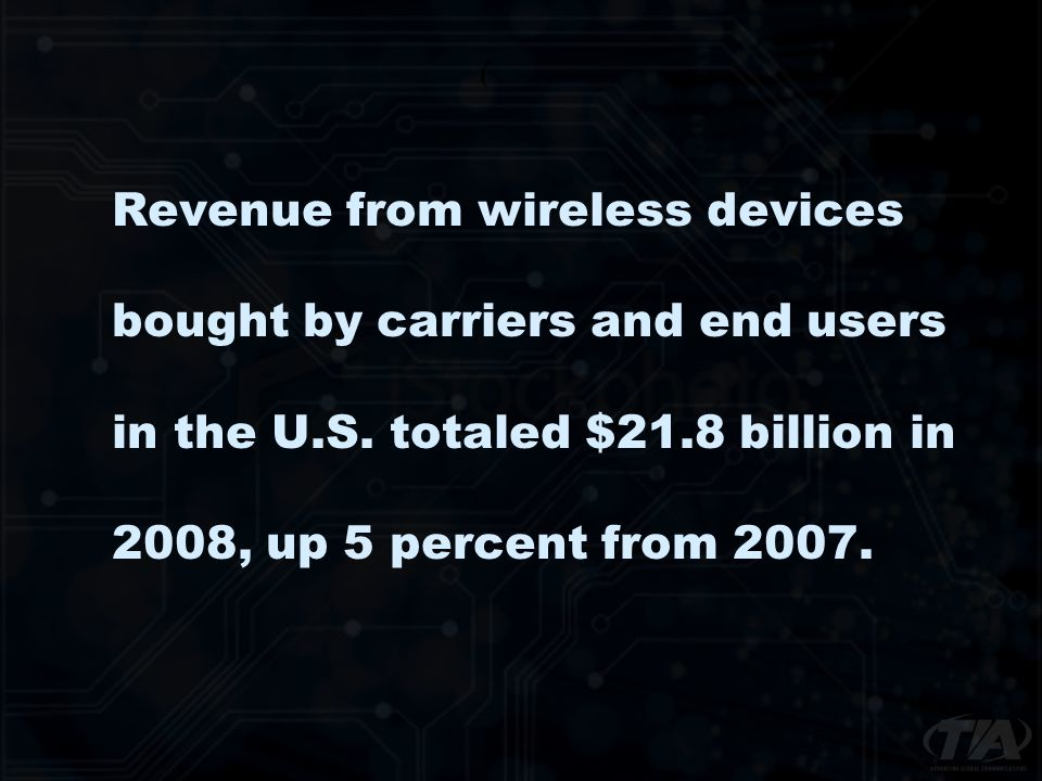 Revenue from wireless devices bought by carriers and end users in the U.S.