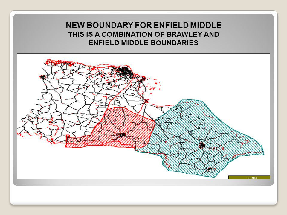 NEW BOUNDARY FOR ENFIELD MIDDLE THIS IS A COMBINATION OF BRAWLEY AND ENFIELD MIDDLE BOUNDARIES